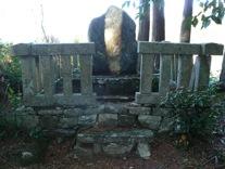 写真4 朝熊町永松寺の秋田実季の墓(2014年11月1日)