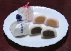 写真3 伊勢イモを皮に使用した薯蕷饅頭(2016年1月11日)