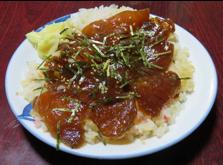写真5 市販のカツオの手こね寿司弁当(2016年2月8日)