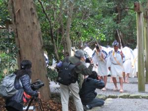 写真5 大土御祖神社における田舞「ほこり」(2016年5月7日)