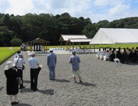 写真2 神田の抜穂祭祭場(2016年9月3日)