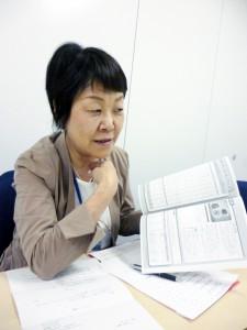 写真1 保育所における「食育コンテスト」の審査委員を11年勤める岡林一枝氏