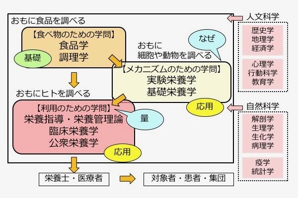 図1. 栄養学の学問構造と正しい情報の流れ(文献1、File1-01(改変))